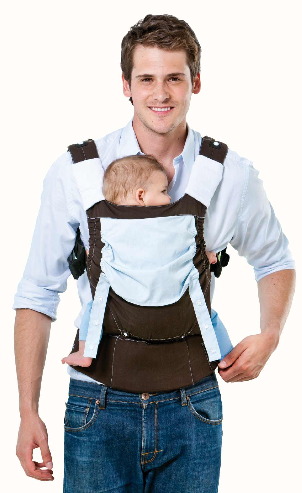 Babytragehilfe Smart Carrier earth
